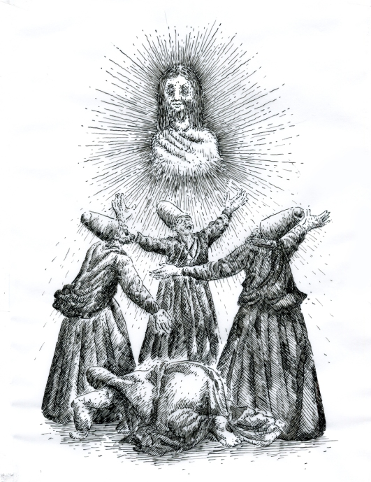 (十六世紀的宗教法庭相信酷刑所帶來的痛苦與信仰的真誠永遠為一體兩面,馬德里,2013)
